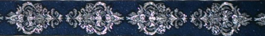 画像1: Navy×SilverMetalic 3.5cm