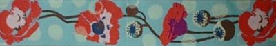 画像1: 【ハーフチョークオーダー: Blue Green dots/poppy】