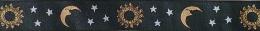 画像1: 〔IG用〕3cm幅仕上がり:Moon&Sun(BK)スリップチョーク ストッパー付