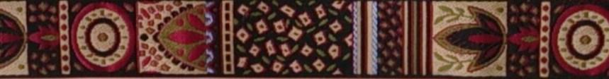画像4: 〔IG用〕3cm幅仕上がり:African Motif(BK×RED)スリップチョーク ストッパー付