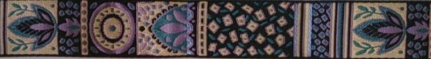 画像1: 〔IG用〕3cm幅仕上がり:African Motif(PL×BE×BK)スリップチョーク ストッパー付