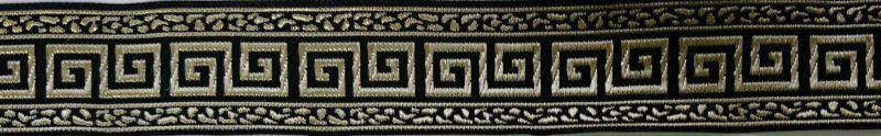 画像1: 【ハーフチョークオーダー: Greek Key(Black×Gold)】