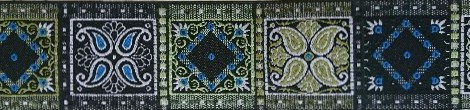 画像1: 【ハーフチョークオーダー: OrientalSquare(BK×G×BL)(5cm幅)】