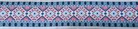 【ベルトタイプオーダー:Retro Embroidery(WHT×PK×SAX)(5cm幅)】