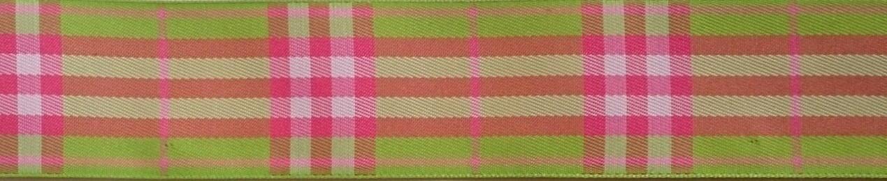 画像1: 【ハーフチョークオーダー:Pink&Green Check】