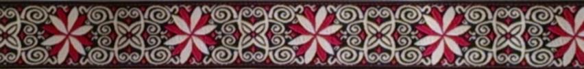 画像1: 〔IG用〕3cm幅仕上がり:BB FLOWER(RED×BK)スリップチョーク ストッパー付