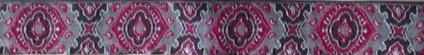 画像1: 〔IG用〕3cm幅仕上がり:Dee(RED×GRAY)スリップチョーク ストッパー付