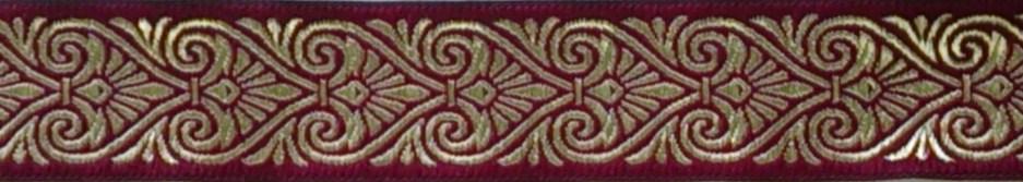 画像1: 〔IG用〕4cm幅仕上がり:BASIC:Brown&burgundy(BR)スリップチョーク ストッパー付