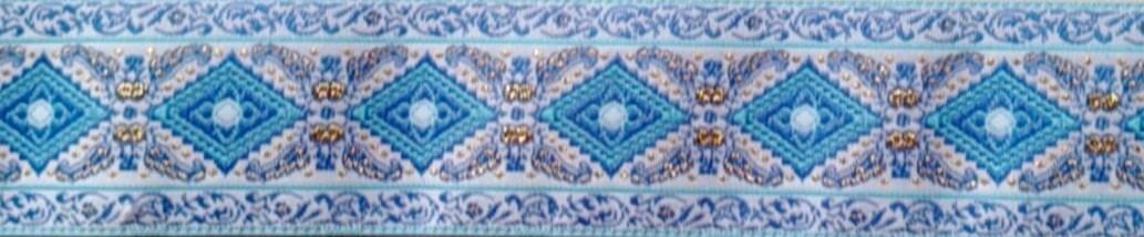 画像1: 【ハーフチョークオーダー: 4cm/Blue Diamond(WHT)】