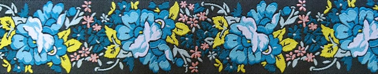 画像1: 【ハーフチョークオーダー:Blue Floral Garland】