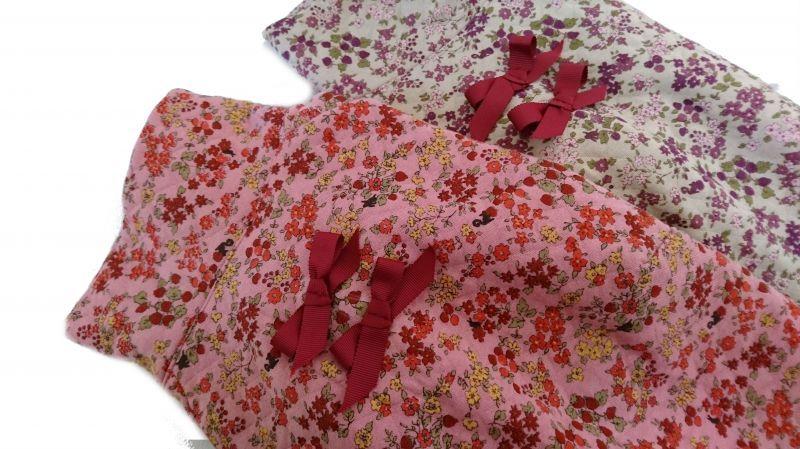 画像1: 〔Whippet:M&L〕Flower ニットキルトラグラン