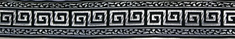 画像1: Greek key(Black×Silver)