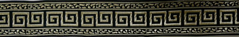画像1: Greek key(Black×Gold)