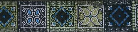 画像1: 【ベルトタイプオーダー:OrientalSquare(BK×G×BL)(5cm幅)】