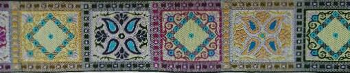 画像1: 【ベルトタイプオーダー:OrientalSquare(CA×PL×BL)(5cm幅)】