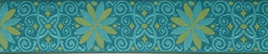 画像1: 【ベルトタイプオーダー:BB FLOWER(Green×Green)(5cm幅)】