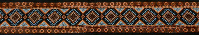 画像1: 【ベルトタイプオーダー:Retro Embroidery(DBR×OG×SAX)(5cm幅)】