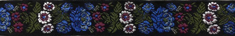 画像1: Floral(BK×BL×PK)4cm幅