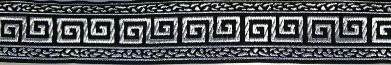 画像1: 〔IG用〕 Greek key(Black×Silver) 3.5cmスリップチョーク ストッパー付